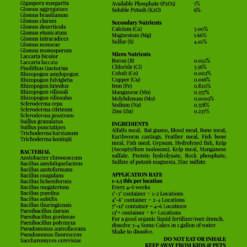 Sumo Cakes® Original Back Label